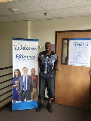 Express Employment Professionals of Taunton's employee of the month.