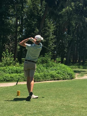 Brenden Tigert, shown on July 14 at the Savannah Junior City Amateur at Bacon Park, won the Boys Open Division on July 21 at The Savannah Golf Club.