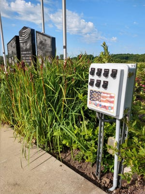 There is a new audio system at the Veterans Memorial at Lakeland Park in Canton.