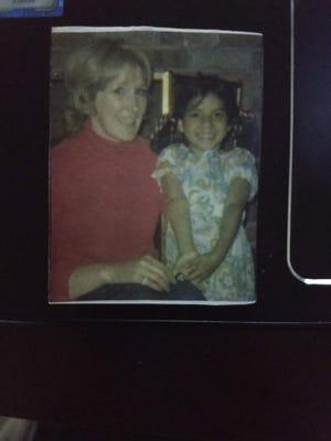 Big Sister Melanie with Little Sister Trisha King.