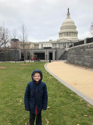 Ben Hall was very excited to be able to visit the nation's capitol with his family. Contributed photo