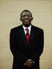 Copeland Elijah White, a sophomore at Lane College, received a scholarship from the 100 Black Men of West Tennessee Saturday night during the 22nd annual Scholarship Banquet held at the Carl Perkins Civic Center.