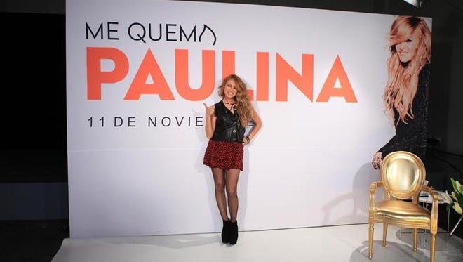"""La cantante mexicana Paulina Rubio posa durante la presentación de su nuevo sencillo """" Me Quema"""" hoy, lunes 7 de noviembre de 2016, en Ciudad de México (México)."""
