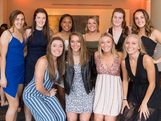 University of Tennessee soccer athletes, back row from