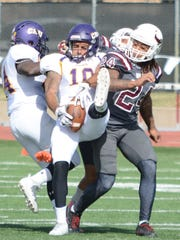 Mary Hardin-Baylor receiver T.J. Josey hauls in a deep