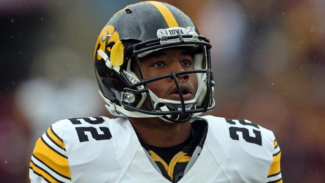 Iowa Hawkeyes wide receiver Damond Powell in a 2013 game.
