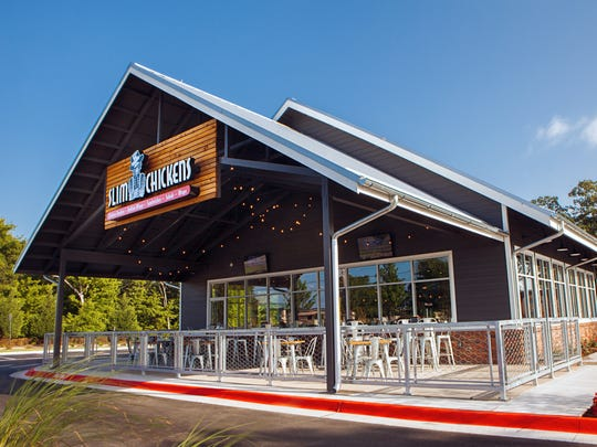"Slim Chickens is recognizable by its ""unique design"" in both the exterior and interior of the restaurant, Chief Marketing Officer Greg Smart said. The restaurant is set to open in early March on Thompson Lane in Murfreesboro."