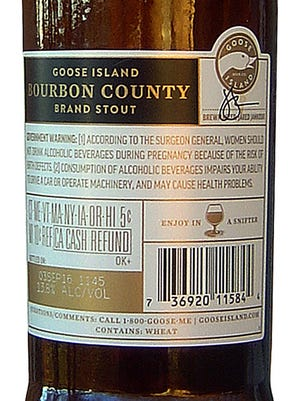 Goose Island Bourbon County Brand Stout, from Goose Island Beer Co. in Chicago, is 13.8% ABV.