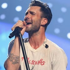 Adam Levine of Maroon 5 performs onstage during the iHeartRadio Music Festival at the MGM Grand Garden Arena on September 21, 2013 in Las Vegas.