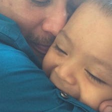 Two-year-old Caleb and his family came to San Antonio this past weekend with a group of cancer survivors. When he was very young the little boy had liver cancer. While they were enjoying a day at Schlitterbahn tragedy struck Caleb's father.