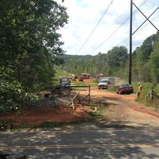 Firefighters in Randolph County discovered a body after responding to a brush fire Sunday afternoon.
