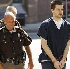 Cody Cousins arrives at the Tippecanoe County Courthouse Friday, September 19, 2014, for the murder of Andrew Bolt last January. Cousins faces a sentence of 45 to 65 years in prison.