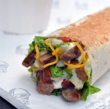 All of Taco Bell's cuisine, including this Cantina Power Steak Burrito, will be eligible in the contest.