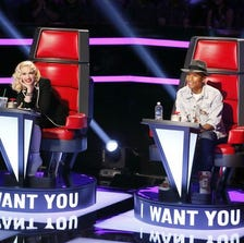 Gwen Stefani and Pharrell Williams are new coaches on this season's 'The Voice' singing competition on NBC.