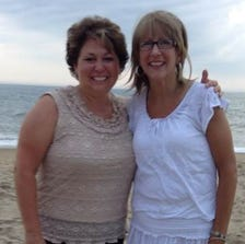 Tricia Seaman, left, agreed to become the guardian of her patient Tricia Somers' son when Somers loses her battle with cancer.