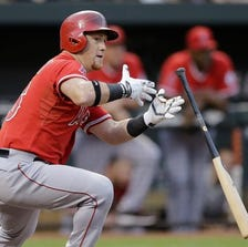 The Angels beat the  Orioles 1-0 Thursday night.