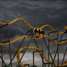 """After being lifted straight up a 120-foot hill, this 4D Wing Coaster challenges riders to """"face their fears"""" as they flip head-over-heels at least six times along the weightless, tumbling journey."""