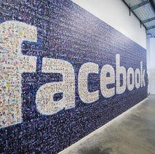 A big logo created from pictures of Facebook users worldwide is pictured in the company's Data Center in Lulea, in Swedish Lapland.