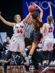 West Des Moines Valley's (23) Amber Kettering has her
