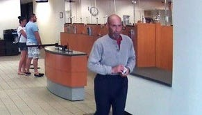 Police are searching for this man, who is accused of robbing the SunTrust Bank at 6700 North Davis Highway on Thursday, June 15, 2017.