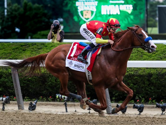 Justify wins Triple Crown at Belmont Stakes