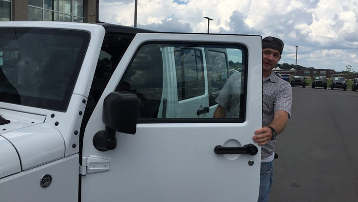 Jake Haight steps in his new 2018 Jeep Wrangler Unlimited