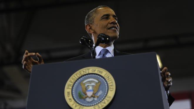 President Barack Obama visits McGavock High School last January in Nashville.