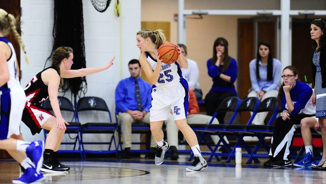 York Catholic grad and Elizabethtown College basketball player Rachel Forjan needs just 31 points to eclipse the 1,000-point mark for her college career.