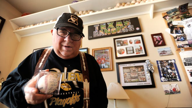 Everyday Hero Kenneth Gillett is a huge sports fan, one of his most prized possessions is a baseball signed by Hall of Famer Nolan Ryan.