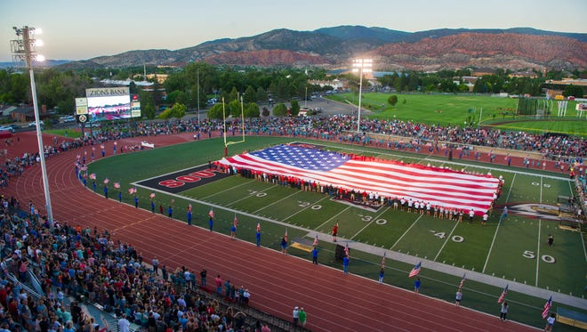The opening ceremony of the Utah Summer Games in Eccles Coliseum in Cedar City on Thursday, June 15, 2018.