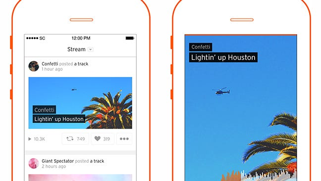 Screengrabs from SoundCloud's new Go premium subscription service