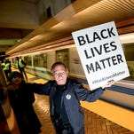 Closeup of a flier distributed by groups protesting in San Francisco BART stations on Jan. 16, 2015.