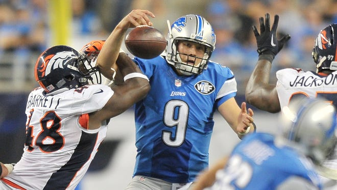 Matthew Stafford has been sacked 22 times in eight games this season.