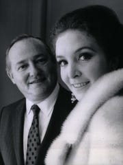 James Nederlander with actress and writer Roni Dengel in 1970.