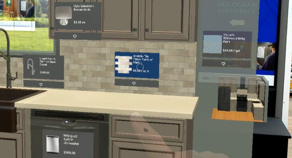 Designing A Kitchen Using HoloLens Allows Loweu0027s Customers Part 71