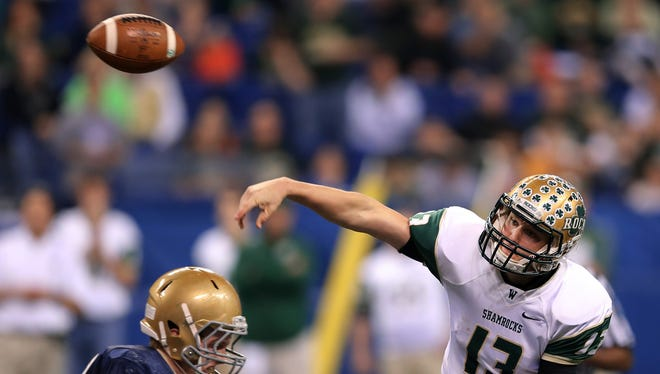 FILE – Former Westfield QB Nick Ferrer has St. Francis back in the NAIA national title game.