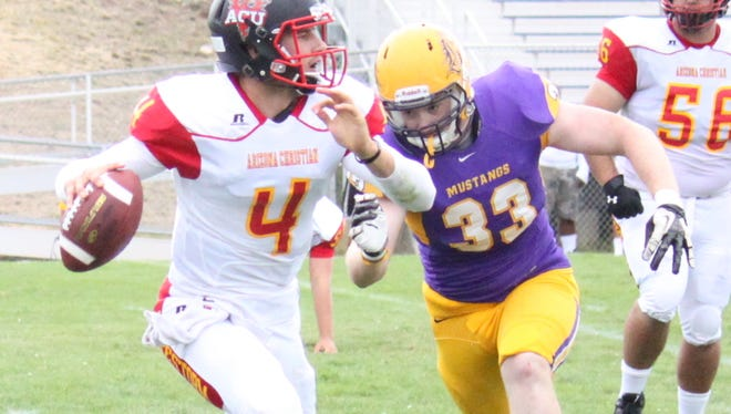 Western's Dylan Contreras has played in five games posting a pair of quarterback hurries as seen above against Arizona Christian.