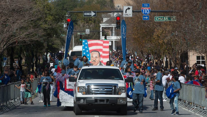 Concerns about Trump weigh on MLK parade crowd