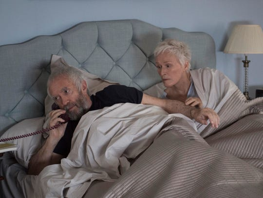 Joe (Jonathan Pryce) and Joan (Glenn Close) are awakened