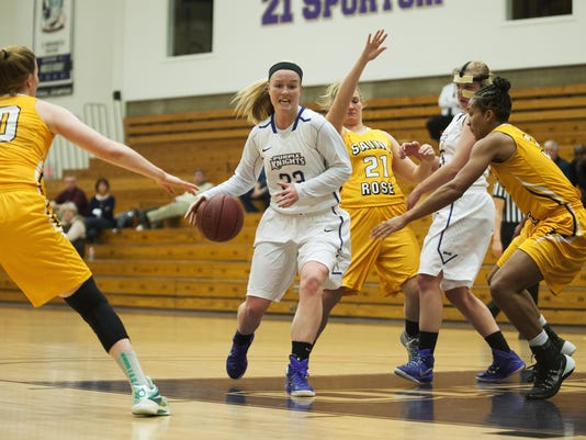 St. Rose vs. St. Mikes Women's Basketball 01/21/15