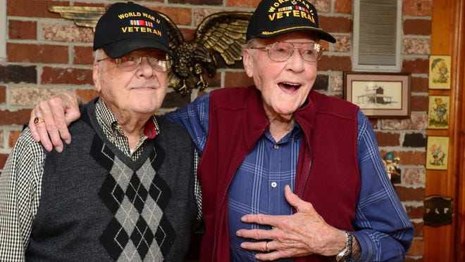 Brothers Homer Montgomery, 91, and Henry Montgomery, 100, are both World War II veterans. They will be traveling together on the upcoming Upstate Honor Flight.