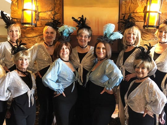 Mesquite Showgirls strike a pose on March 15, 2018: