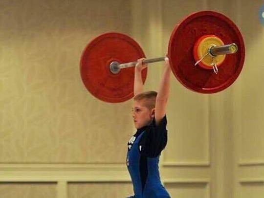 Maximus Crofton finished 4th at the USA Weightlifting
