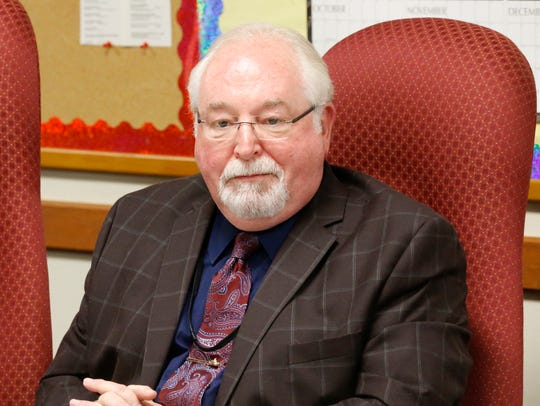 Dave Hamlin, Town of Fenton supervisor, during Wednesday's