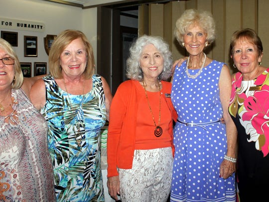 Gayle Thawley, Audrey Calzone, Susie Walsh and Linda Dolinger share a laugh.