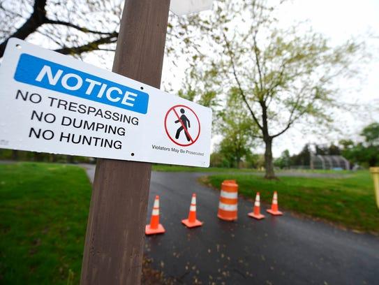 Landowner Talen Energy had placed no-trespassing signs