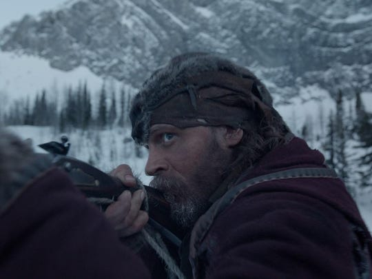 "Tom Hardy hunts for the person he had left for dead, in ""The Revenant."""