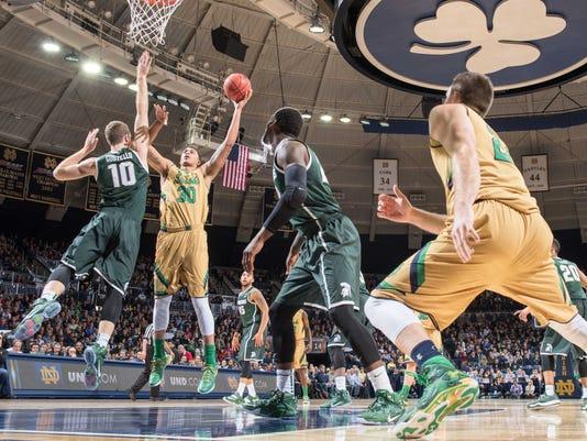 NCAA Basketball: Michigan State at Notre Dame