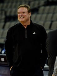 Kansas Jayhawks head coach Bill Self during.
