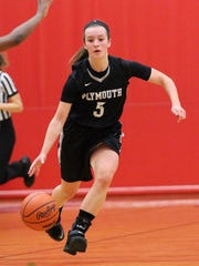 Plymouth senior point guard and co-captain Paige Slominski